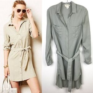 Anthropologie Cloth & Stone Tencil Shirt Dress XS